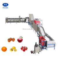 AUTOMATIC FRUIT WASHING,DRYING,WAXING AND SORTING MACHINE FOR FRUIT/APPLE PROCESSING LINE