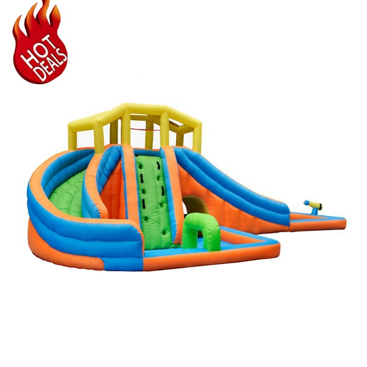 Inflatable Fabric PVC New Hot Personalized 30 Meters Long Inflatable Water Slide Factory China