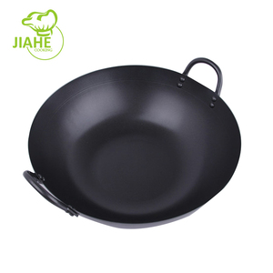 Hand Hammered Cooking Non Stick Industrial Carbon Steel Wok