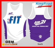 Sublimated gym compression wears and running singlet custom design 2014