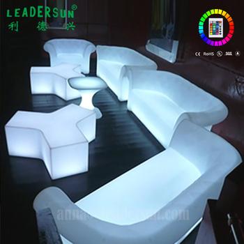 16mood Color Light Up Modern Hard Plastic Sofa