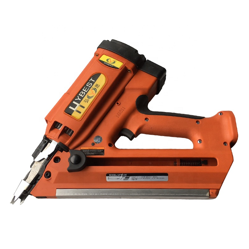 Gas Powered Paper Strip Collated Cordless Wood Nailer