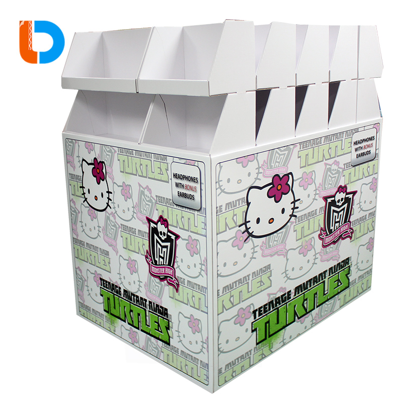 Hot sales supermarket promotional Floor Pallet Stand Cardboard Stacking Cubes Display