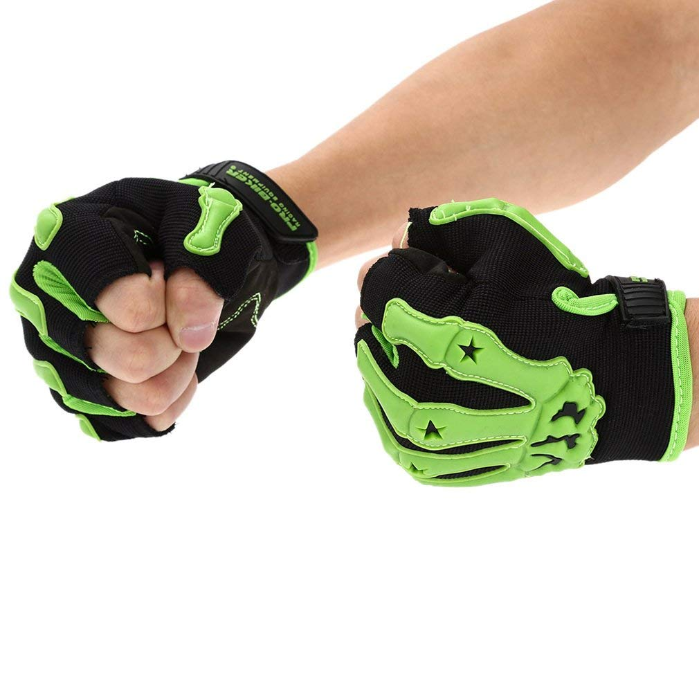 Motorcycle Half Finger Summer Safety Racing Bike Riding Mens Cycling Gloves