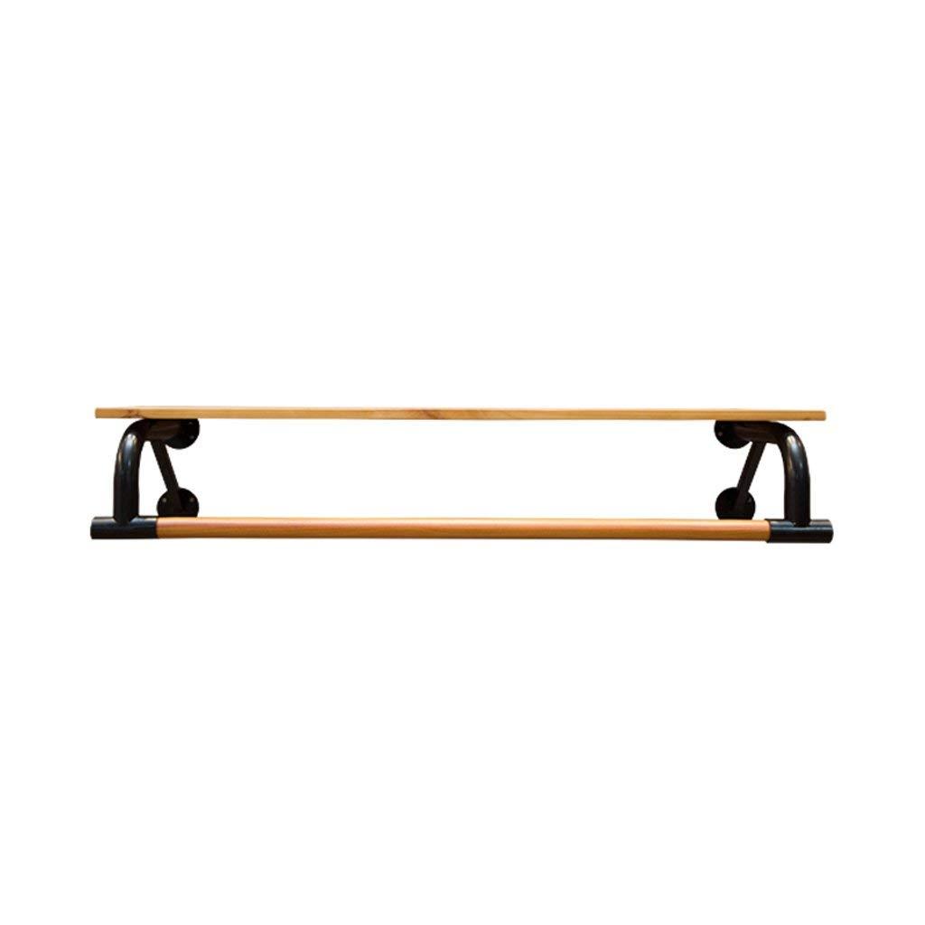 COAT RACK Solid Wood Iron Clothes Shelf Wall-Mounted Combination Racks Living Room Bedroom Hallway Hanger (80 cm, 100 cm, 120 cm)