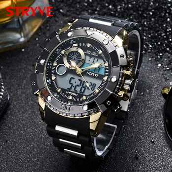 STRYVE brand Sport military digital watch men 3ATM Waterproof wristwatch high quality luxury wholesale men watches