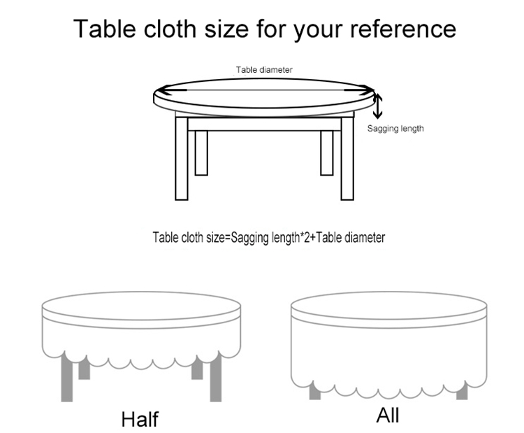 Großhandel Plain Farbe Doppel Haken Blume Tischdecke Für Hochzeit Hotel Runde Tisch Abdeckung