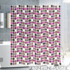 PEVA printed pink custom curtains for manufactured home
