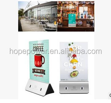 table tent charging station for restaurant power bank Innovative Menu Stand Power Bank For Restaurants , Hotel , Bars and Cafes