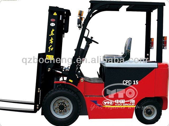 YTO 1.5T Electric Forklift CPD15