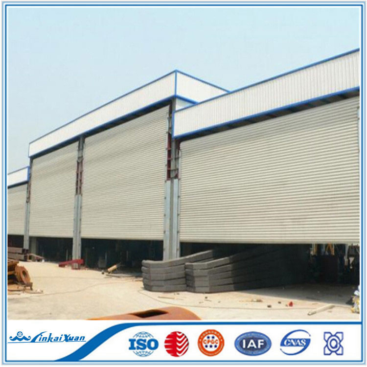 Factory made windproof galvanized steel roller shutter door | Warehouse roll up door