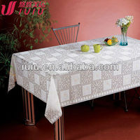100% high quality vinyl lace tablecloth, lace table cover