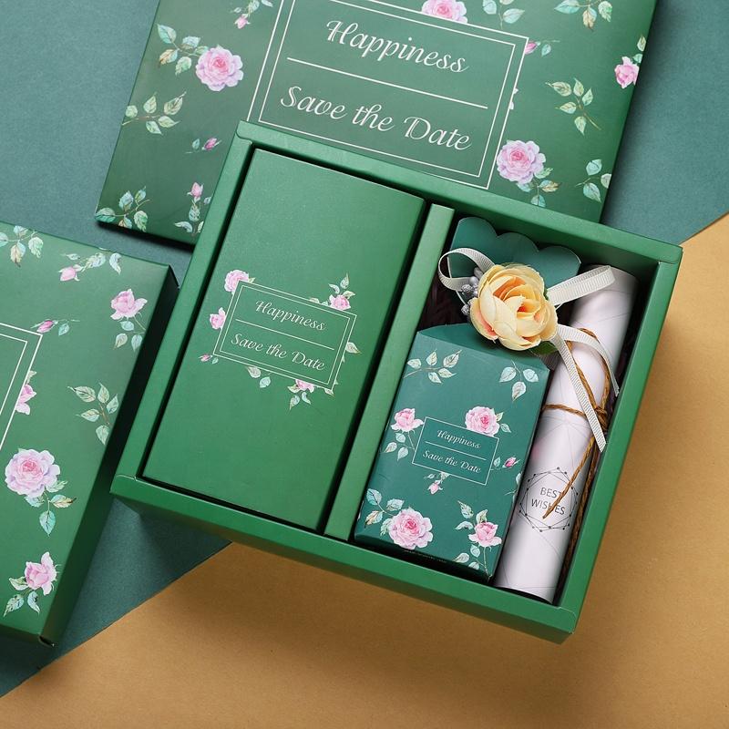 منتدى التعاون الأمني التعبئة والتغليف الحلوى مربع مخصص مع شعار الجملة طوي زفاف صغير لطيف ورقة هدية مربع