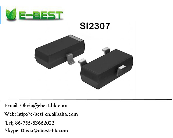 SI2307 P-Channel mosfet transistor 30V 2.7A SOT-23 on china market of electronic
