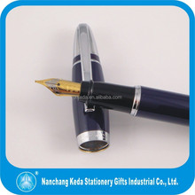 Luxury classic blue/black ink gold tip fountain pen