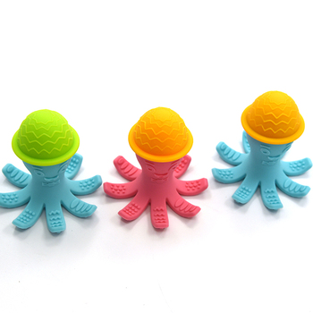 cf22383f47e5a Hot Sale Octopus Shape Baby Chew Toys Silicone Natural Bath Teething Toys