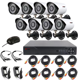 Home Camera System 8ch Outdoor Waterproof Metal Security Camera kit 8 Channel AHD 960P DVR CCTV