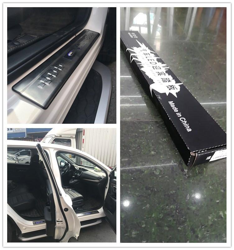 รถอุปกรณ์เสริมสาย Scuff แผ่นสำหรับ Mitsubishi Asx Led รถประตู Sill แผ่น