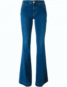 Denim jeans factory ladies bell bottom jeans pants flared jeans