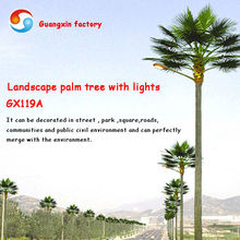 Árbol paisaje palmera con luz led farola light up árbol de china fabricante