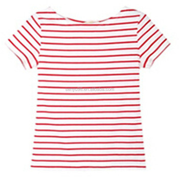9133c5be46 women's wholesale striped t-shirts,red white striped t-shirts ,vertical  striped