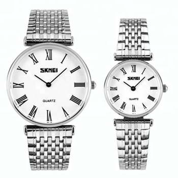 3173e96e82 skmei 9105 stainless steel couple watch pair watches. View larger image