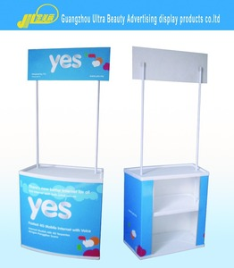Supermarket promotion desk/pop up table/pop up counter
