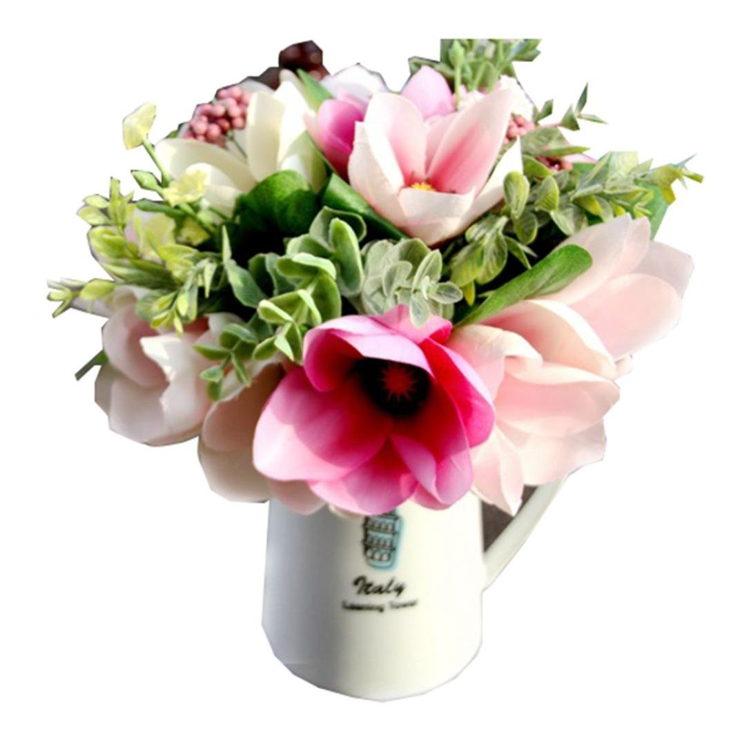 Buy outtop 6 heads 118 inch camellia magnolia artificial flowers outtop 6 heads 118 inch camellia magnolia artificial flowers bouquets real touch fake flower for home izmirmasajfo