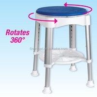 Swivel Bath Stool with rotating padding seat