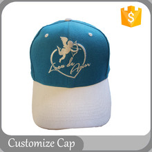 High Quality Custom Embroidery Cap Cheap 6 Panel Cotton Two Tone Blank Angel Baseball Cap