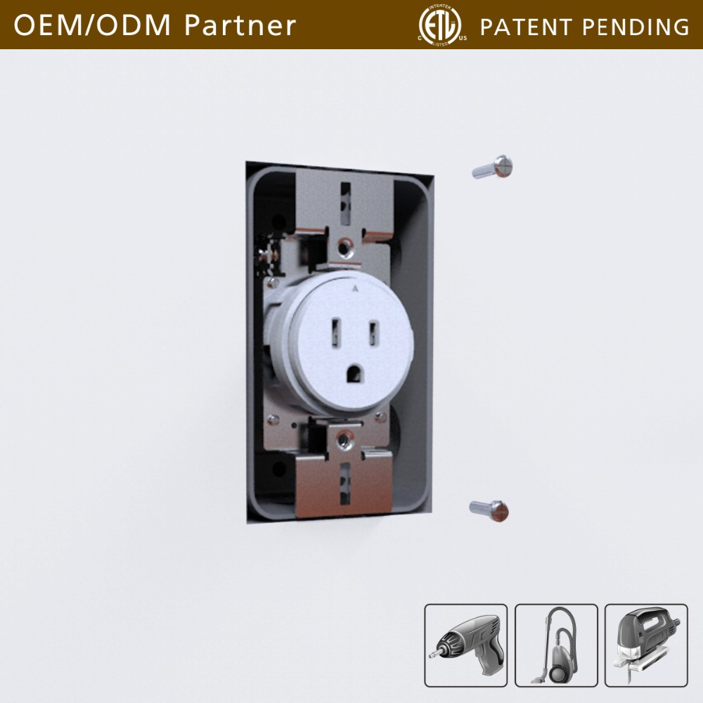 2-LOX 2017 trending product innovative locking wall receptacle 15A 125V grouding socket