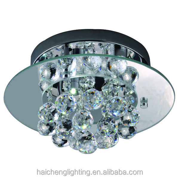 Art deco crystal led ceiling light fixtures