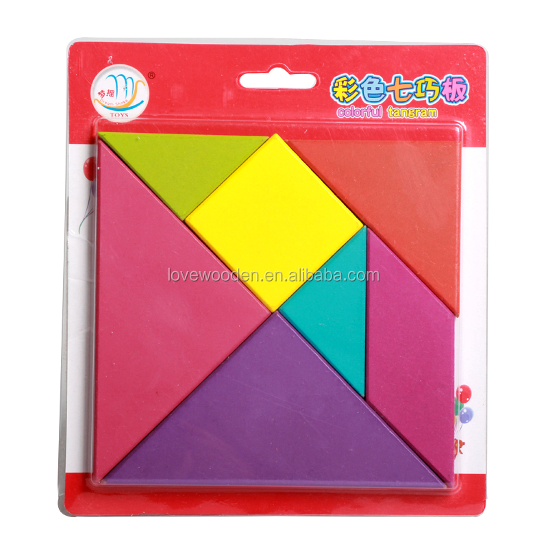 2016 New Hot Sell Wooden Puzzles EN71 ASTM tangram