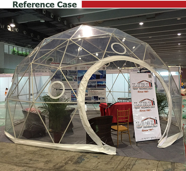 Clear Pvc Fabric Round Top Half Sphere Tent For Events