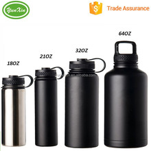 Popular high quality double wall 18oz, 32oz,40oz, 64oz stainless steel beer growler/water bottle with neoprene cover/sleeve