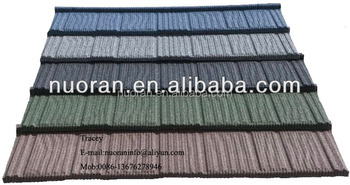 Popular Colorful Stone Coated Metal Roofing Tile / Metal Corrugated Tile  Roofing/Stone Chip Coated