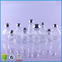 Mini Various shaped Glass Bottle For Essential Oil Perfume Decoration For Amazon