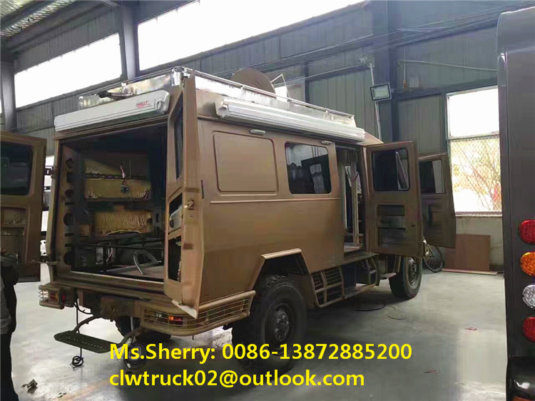 2017 New Style Luxury Decorated Dongfeng Mobile Caravan