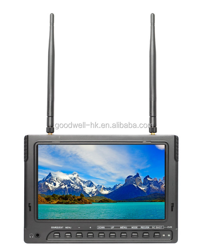 Built in Battery 7 Inch FPV Monitor with 32 Channel <strong>DVR</strong>