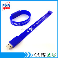 Best Wholesale Price USB Flash Drive Silicon Bracelet USB 2.0 Wristband Flash Disk for Wholesale Promotion