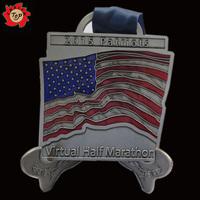 patriots virtual half marathon sporting medal / running souvenir