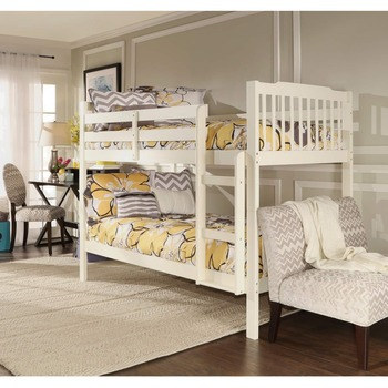 China Made kid bunk bed nature wood bedroom furniture For Children