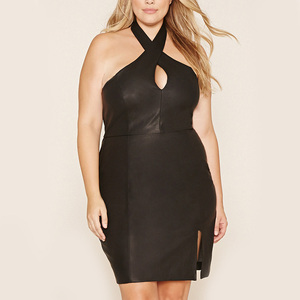 alibaba leather dress supplier cheap sexy faux leather dress plus size black leather dress