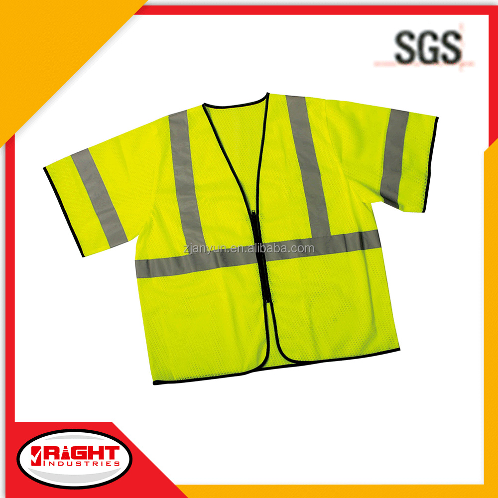 American Style Orange or Lime Fabric Safety Vest 5112