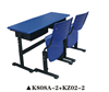 Double School Desk And Chair K808A-2+KZ02-2