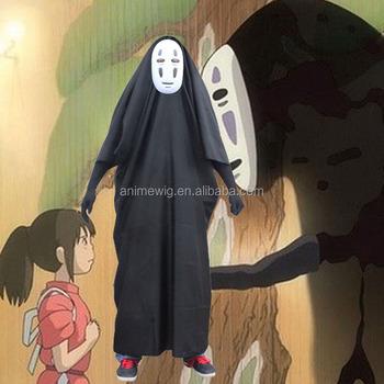 Hot Japanese Anime Spirited Away No Face Man Men Full Set Cosplay Costume Buy Japanese Cosplay Costumes Japanese Anime Costume Spirited Away Costume Product On Alibaba Com