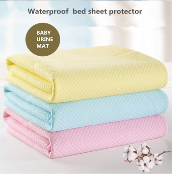 Marvelous Custom Cotton Fabric Waterproof Bed Sheet Protector Baby Urine Mat