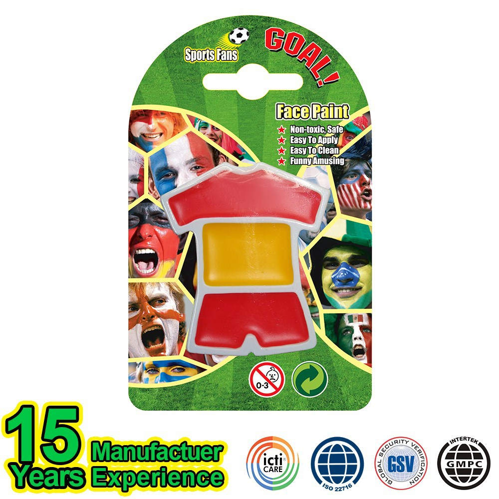2015 Hot Sale China Football Fans Spain Flag Face Body Paint