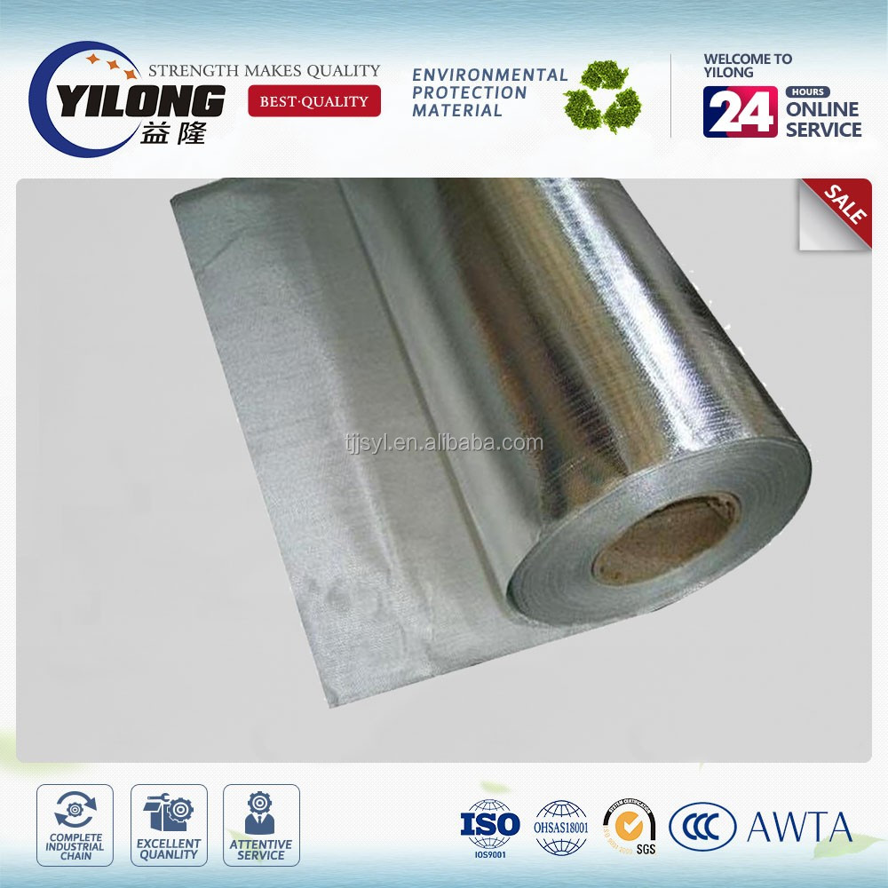 fire resistant thermal insulation aluminized fiberglass fabric