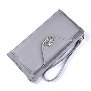 Hengsheng SW1091 Leather Wallet Buyer Clutch Bag Japanese Style Zipper Leather Cell Phone Wallet